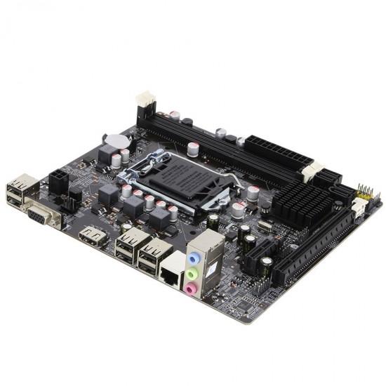 Turbox H61C Sata Ddr3 1600MHz Usb 2.0 Vga Hdmi Ses Lan 1155P 2.3.Gen Anakart