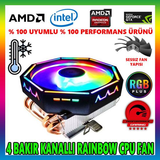 Snowman M400 Rainbow CPU Soğutucu Fan