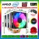 Snowman X6 Rainbow 6 Bakır Kanallı CPU Soğutucu Fan