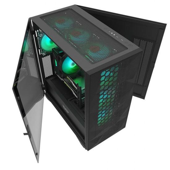 DARKFLASH DLX21 MESH 4x120mm RGB Fanlı Kumandalı Profesyonel Gaming Oyuncu Bilgisayar Kasası