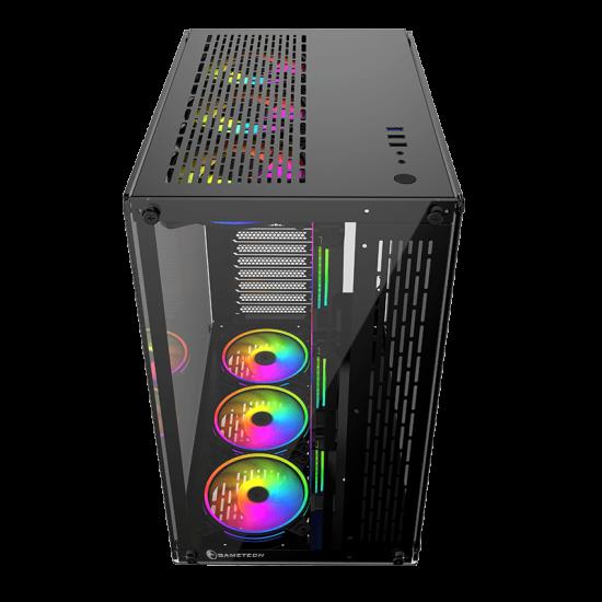 GAMETECH Archon 9x120mm Rgb Fanlı Kumandalı Profesyonel Gaming Oyuncu Bilgisayar Kasası