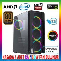 GAMETECH COLDER Rainbow 4x120mm Fan Gaming Oyuncu Kasası