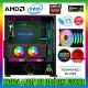 GAMETECH GALAXY KUMANDALI RGB 3x140mm - 1x120mm Fan Gaming Oyuncu Kasası