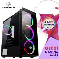 GAMETECH GT-01 4 ADET RAİNBOW 12CM LED FANLI OYUNCU KASASI