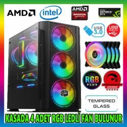 GAMETECH X-COLER RGB 4x120mm Fan M.Atx Gaming Oyuncu Kasası