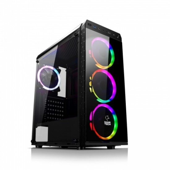 GAMETECH ZEUS KUMANDALI RGB 4x120mm Fan Gaming Oyuncu Kasası