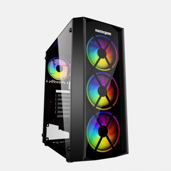 MasterGame PUSAT 4x12cm Autoring Rgb Fan Temper Cam Gaming Oyuncu Kasası