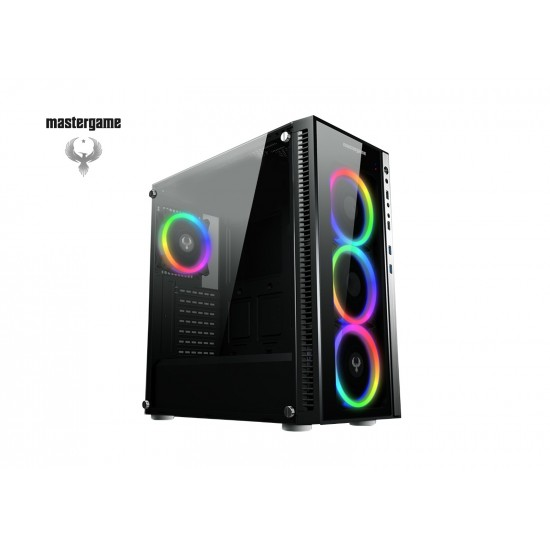 MasterGame SOHO 4x12cm Autoring Rgb Fan Temper Cam Gaming Oyuncu Kasası