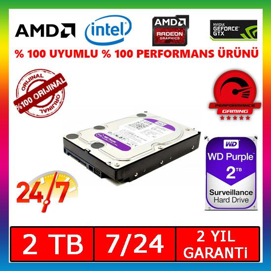 """WD Purple WD20PURX 3.5"""" 2 TB SATA 3 HDD"""