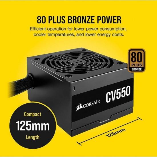 Corsair CV550  550W  80 Plus  Bronz Aktif PFC Power Supply Güç Kaynağı