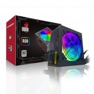 Dragos 12Cm RGB Fan 500W 80 Plus Aktif PFC Power Supply
