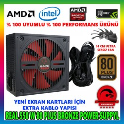 GAMETECH GTP-550 550W 80 PLUS POWER SUPPLY