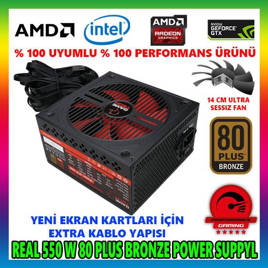 GAMETECH GTP-550 550W 80 PLUS POWER SUPPLY