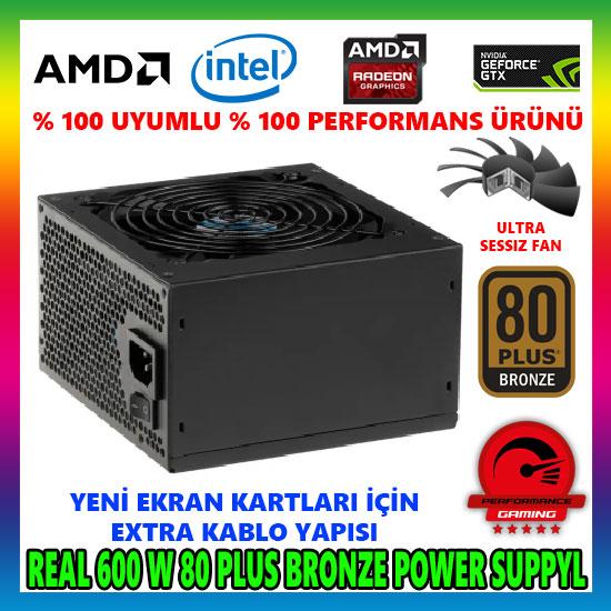 Power Boost BST-600A 600W 80 Plus Aktif PFC PSU Power Supply