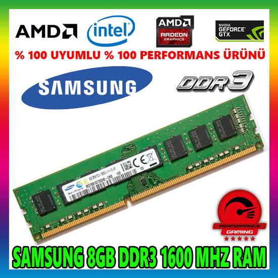 SAMSUNG 8 GB DDR3 1600 MHz Masaüstü PC Bellek RAM