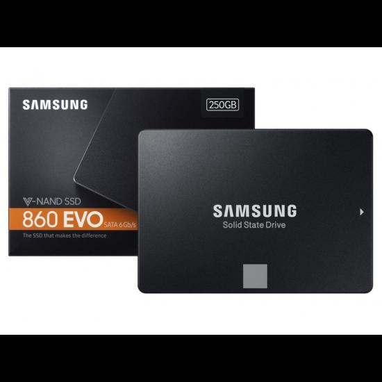 """Samsung 860 Evo 250 GB 560MB-520MB/s Sata3 2.5"""" SSD"""